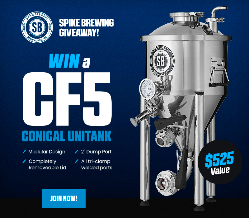 Win A Spike Brewing Cf5 Conical Unitank Homebrewtalk Com Beer Wine Mead Cider Brewing Discussion Community