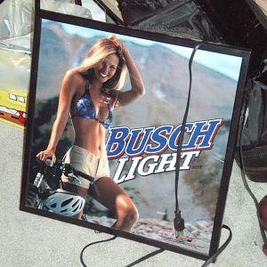 busch light sign