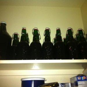 Belgian Wit I just bottled.  More beer! Yes, I Cra!