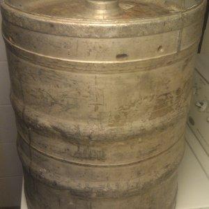 aluminum keg