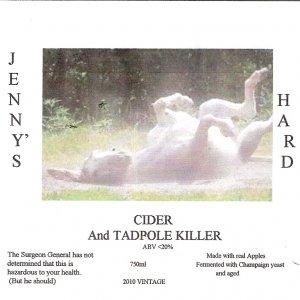 Jenny's Hard Cider & Tadpole Killer