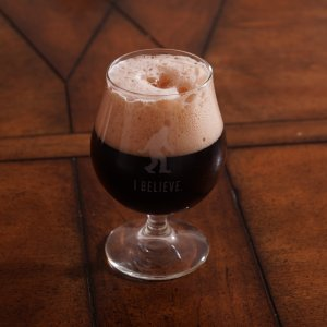 Spiced Cherry Dubbel - Poured