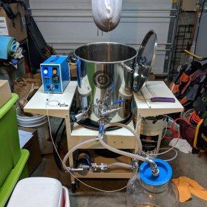Into fermenter