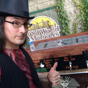Me and the Vault beer wagon at Zoo Brew, South Bend, IN