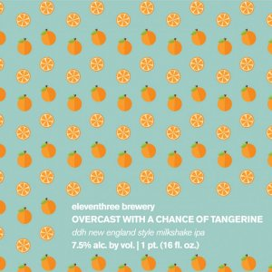 Eleventhree Brewing: Overcast with a Chance of Tangarine