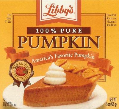 Recipes for pumpkin pie filling