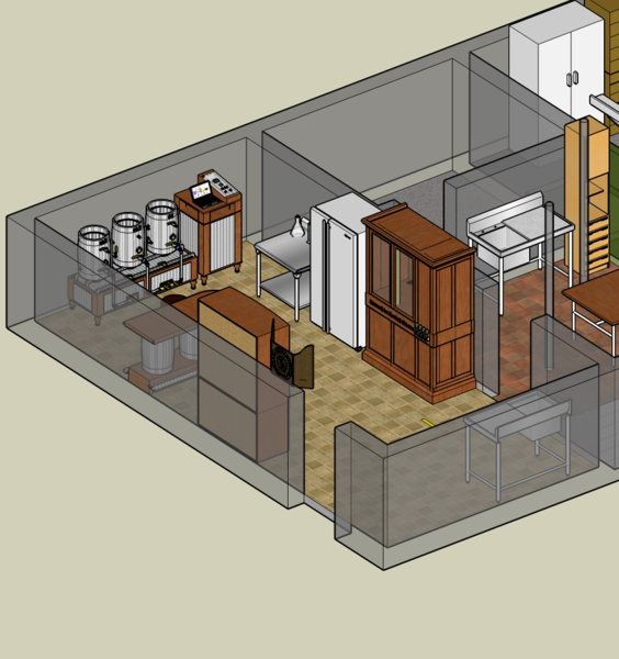 here is my current layout - Home Brewery Design