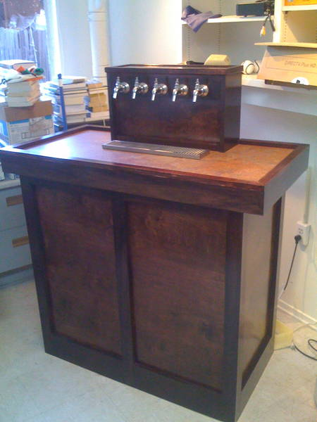 Coffin keezer list home brew forums for Home bar with kegerator space
