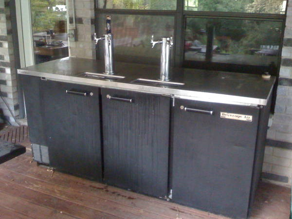 Adding insulation to a 3 door beverage air dispense for Home bar with kegerator space