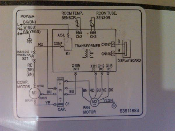 wiring diagram for frigidaire air conditioner the wiring diagram how do i rewire my window ac unit home brew forums wiring diagram