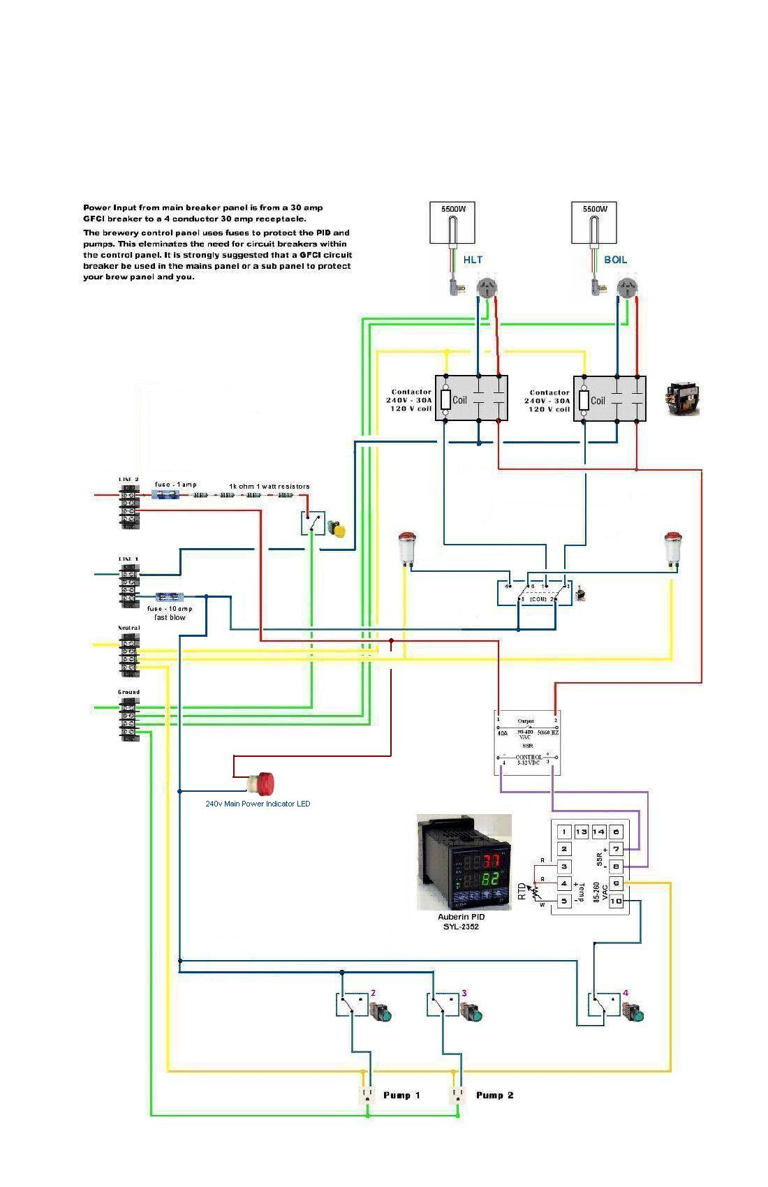 240v Pid Wiring Diagram Libraries Loop Ssr For Controller Third Levelhomebrew Simple Relay