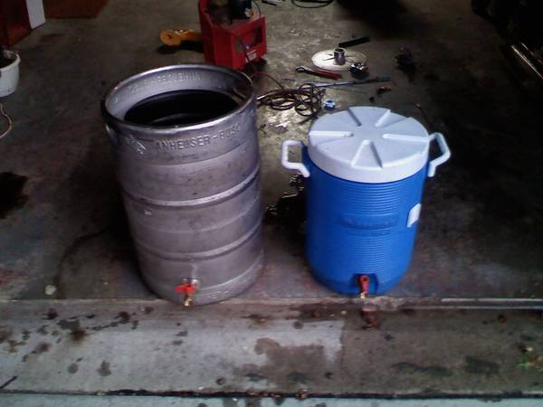 cooler vs keggle mash tun