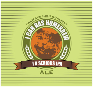 beer label lol cat style home brew forums