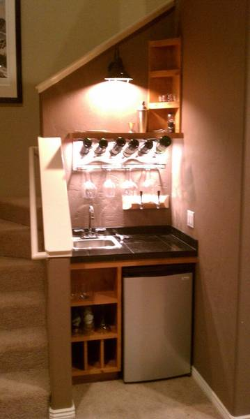 Hidden kegerator cubby bar build home brew forums Home bar furniture with kegerator