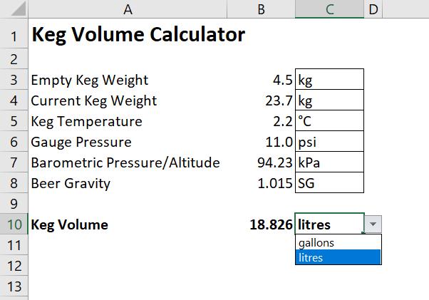 Keg Volume Calculator   HomeBrewTalk com - Beer, Wine, Mead