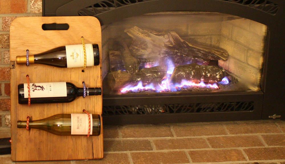 finished DIY Wine board