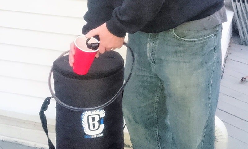 draft beer on the go cool brewing bag