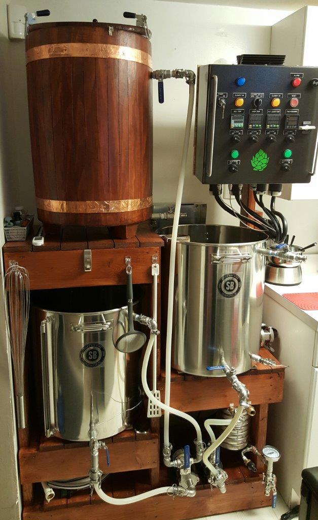 Brew Rig - Aj Ruby U0026 39 S 3 Vessel 3 Tier System With Control Panel