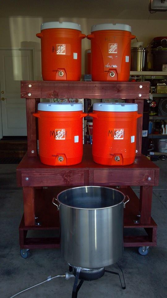Brew Rig Pallet Based 3 Tier Homebrewtalk Com
